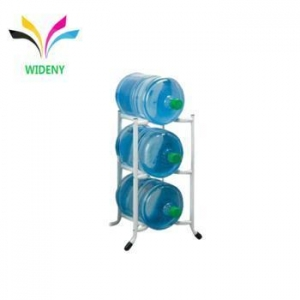 China Metal wire white powder coated 3 tier 5 gallon water bottle rack on sale
