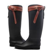 China Riding boots fashion sexy women PVC rain boots on sale