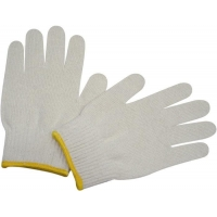 China Cotton knit family Safety gloves Natural white cotton work glove on sale