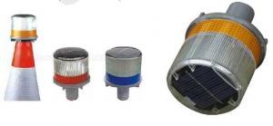 China solar traffic cone warning light on sale