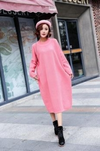 China 2017 hot sale casual style loose women custom fit knitted old lady sweater on sale