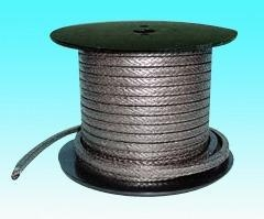 China Graphite packing Nickel wire reinforced flexible graphite packing on sale