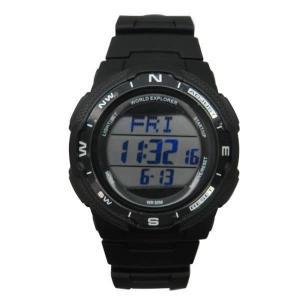 China WS-RC1401 Fashion Sport Radio Controlled Plastic LCD Digital Watch on sale
