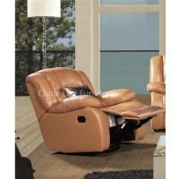 Modern Living Room Electric/Manual Leather Sectional Recliner Sofa
