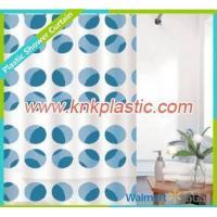 Fabric Shower Curtain Blue Dots Design Shower Curtain Fabric, Colorful Bathroom Curtain