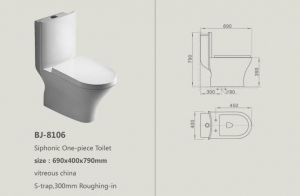 China bathroom toilet suit PRODUCTS BJ-8106 on sale