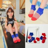 China Custom soft touch striped design star anti slip cotton infant baby socks on sale