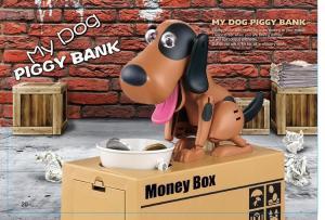 China Creative coin bank Electronic Eating money Dog Money Box on sale
