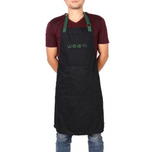 China Good Quality Raw Denim Waitress Aprons with Embroidered Logo on sale