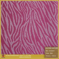 Pink Zebra Pattern Synthetic Leather for Shoes