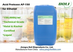 China High Efficient Acid Protease AP - 150 , Industrial Ethanol Enzyme Stable Activity on sale