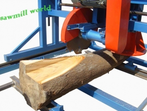 China Wood Cutting Circular Saw Double Saw Wood Cutting Machine Portable Swing Blade Sawmill on sale