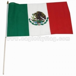 China Fabric Mexico Country Handheld Flag on sale