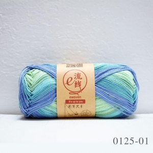 China Colorful 100% Mercerized Cotton Space Dyed Hand Knitting Yarn on sale
