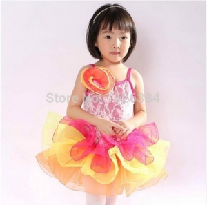 China Costume Collection Product name:Lace Fluffy Ballet Dress Dance Costume DB42 on sale