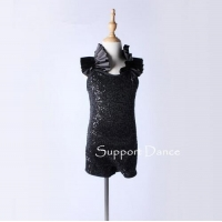 Costume Collection Product name:Black Sequins Modern Jazz Dance Costume DB139