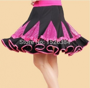 China Dancewear Collection Product name:Adult Latin Skirt Women Standard Ballroom Dance Dress LAT14 on sale