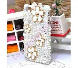 China pearl iphone4 hard case cover with flowers GIFTS on sale