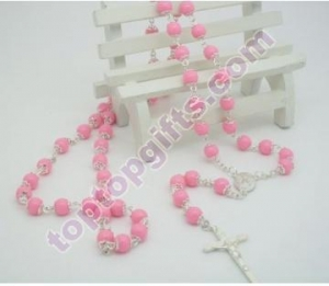 China round plastic rosary with metal cap holy prayer beads Jewelry Styles on sale
