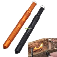 New Outdoor CNC Magnesium Bar Flint Fire Starter Waterproof Survival Camp Kit