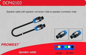 China Products Pro speaker Cables Black with Speakon on sale