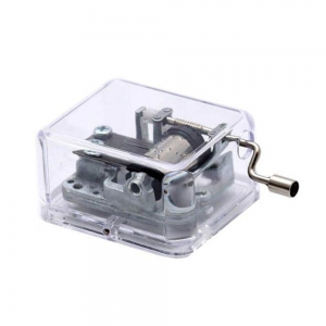 China YouTang(TM) Plastic Hand Crank Music Box SY003 (18 Note Movement in Sliver,set of 1) on sale