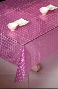 China TD04-Pink-3D EVA table cloth-dining decorative table cloth on sale
