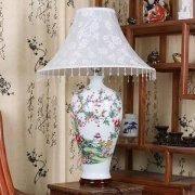China Big Decal Porcelain Lamp on sale