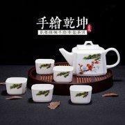 China High Quality Hand Painted Bone China Tea Set 6PCS on sale