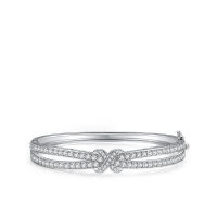 New In Created White Sapphire Bangle
