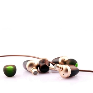 China Promotional gifts Free sample wood headphones in-ear earphone on sale