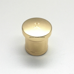 China Gold electroplating round perfume cap on sale