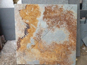 China Gold rusty slate tile on sale