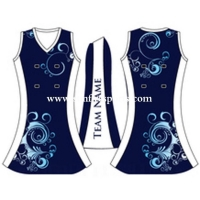 China Full sublimation custom jersey women netball uniforms dress on sale
