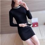 China Cashmere Sweater Nail bead Plain knitting dress 1706226 on sale