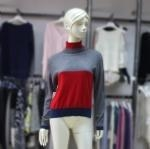 China Cashmere Sweater Ladies fashion Color Block Sweater 170384 on sale
