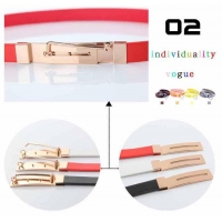 Black Red White with unique buckle PU belts BS-198