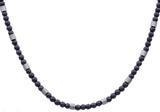 China Mens Genuine Hematite Stainless Steel Beaded Necklace on sale