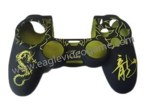 China High Quality Dragon Pattern PS4 Controller Soft Gel Rubber Silicone Skin Case on sale