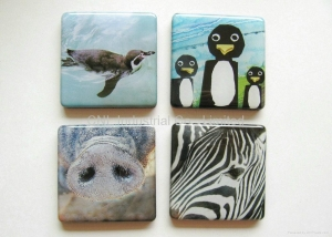 China tourist souvenir epoxy resin magnetic sticker for refrigerator with printing on sale
