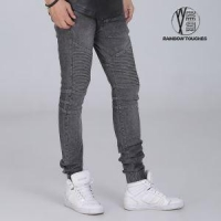 Grey Skinny Jeans Pants Men