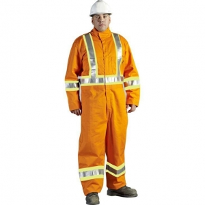 China 100% Cotton Hi Vis Industrial Workwear with Safety Fireproof Coveralls on sale