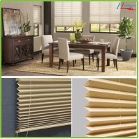 Cheap price dustproof pleated window blinds curtain