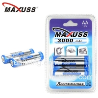 MAXUSS 3000mAhx2 Ni-MH AA Rechargeable Battery 1.2V Batteries