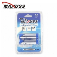 2000mAhx2 Ni-MH AA Rechargeable Battery 1.2V Batteries