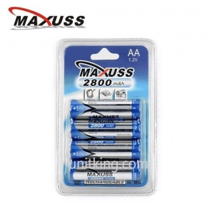 China 2800mAhx4 Ni-MH AA Rechargeable Battery 1.2V on sale