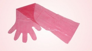 China AI Equipments RS-114 Disposable Examination Long Arm Gloves on sale