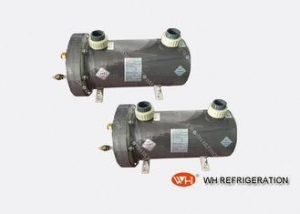 China Tube And Shell Titanium Heat Exchanger For Swimming Pool / Aquarium Chiller on sale
