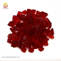 Red Home Decorative Crushed Glass and Recycled Landscape Glass for Garden