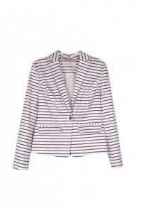 China New Look Single Button Long Sleeve Tailored Jacket/Blazer In Stripe on sale